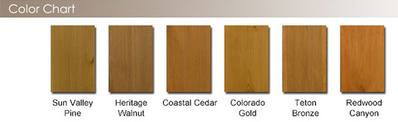 DEFY Extreme Wood Stain color chart